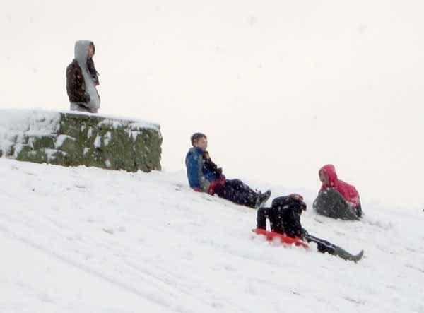 Snow 26th November Sledging
