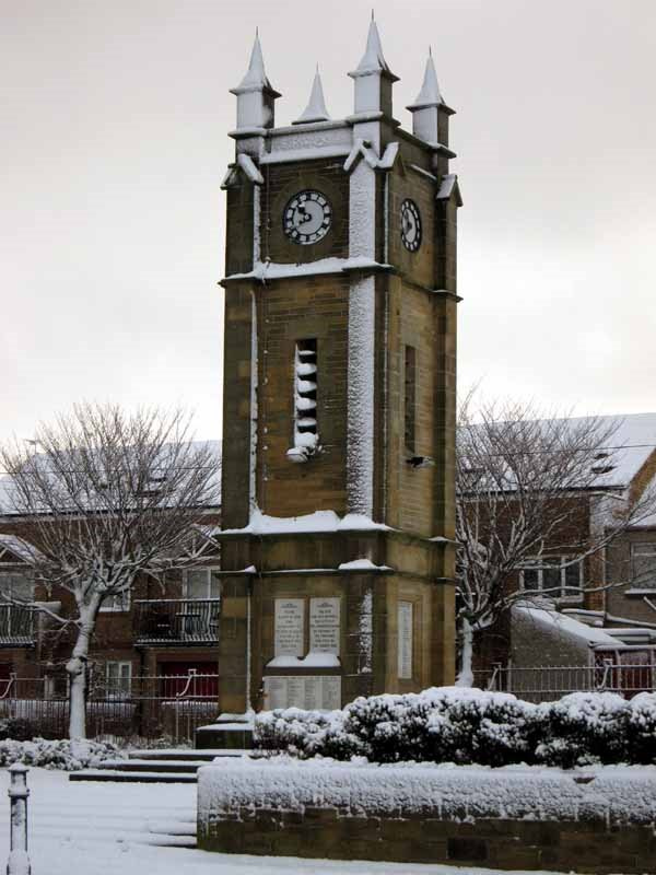 Snow 26th November Town clock