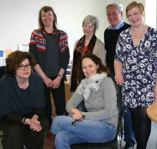 Fiona Shaw and Amble poetry group