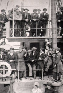 "Shipyard workforce on board ""Cretebow"", Amble Braid 1919"