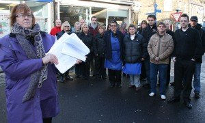 Ann Burke and Queen Street traders. 3466 people signed the parking petition in one week.