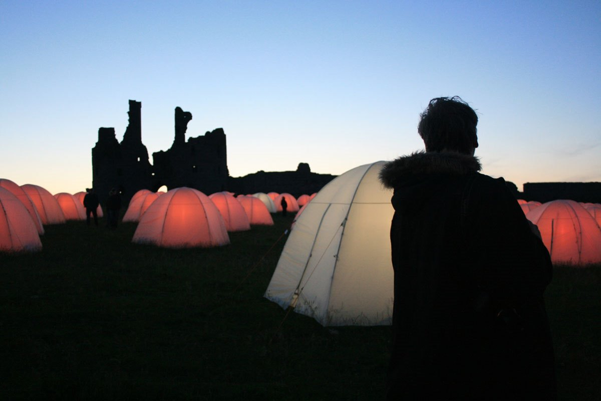 Peace-Camp at Dunstanburgh
