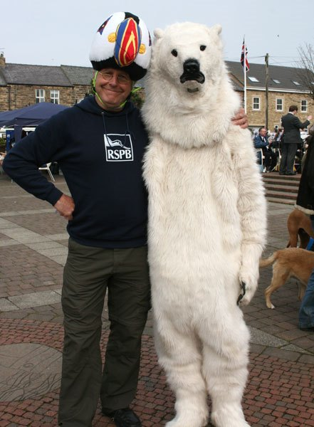 "RSPB ""Capt Coquet"" with -Greenpeace Polar Bear"