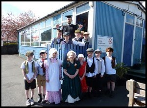"""The old wooden mobile classroom known as the """"larkabout"""" is being replaced"""