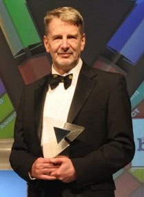 Nigel King, owner of QuestUAV received the award