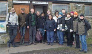 Greek and Latvian visitors at Hauxley Nature Reserve