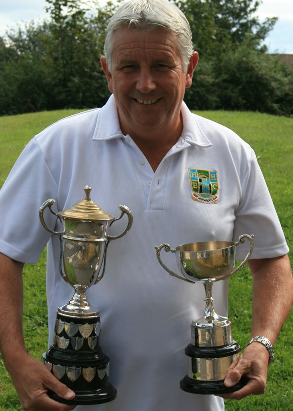 Chris Coan with the two trophies he and Barrie Nichol won in one season