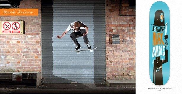 Fabric skateboarder Mark Baines