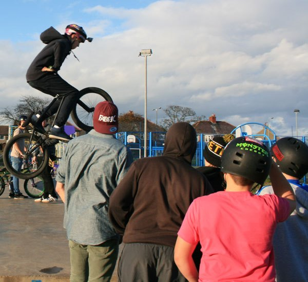Skateboarders, BMXers and scooter riders all enjoyed the day