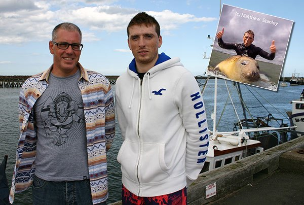Andy-and-Matty-at-Amble-Harbour