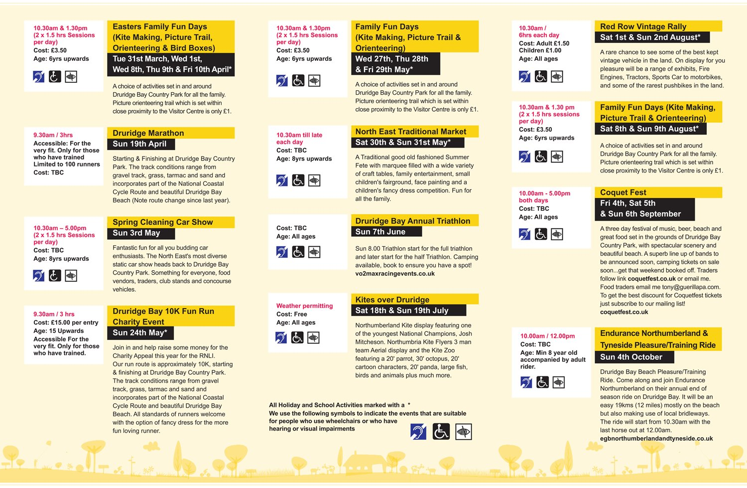 091 - Countryside Events Leaflet - Druridge 2015
