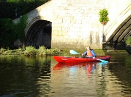 canoe paddle at warkworth