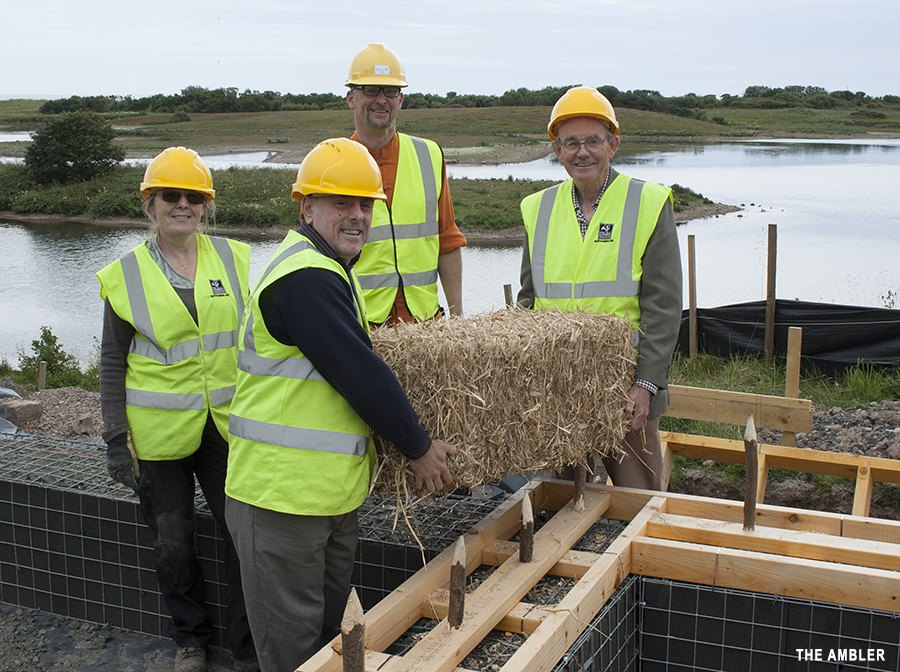 (l- r) volunteer Christine Hall; NWT Chief Exec Mike Pratt; Architect Henry Amos; NWT President Chris Mullen