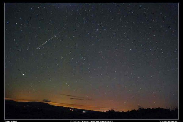 Shooting stars over Northumberland
