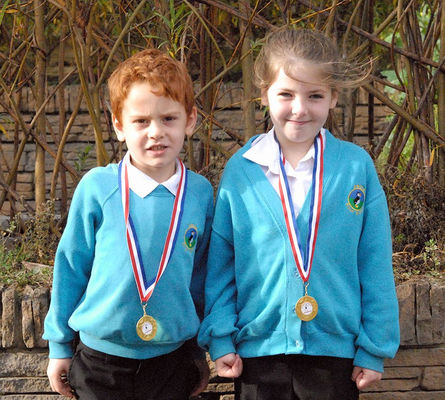 Jacob and Kiera were awarded Players of the Month for October
