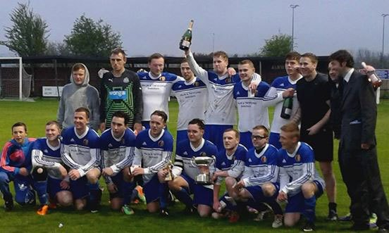 Amble St Cuthbert FC win 2015 Robson Cup
