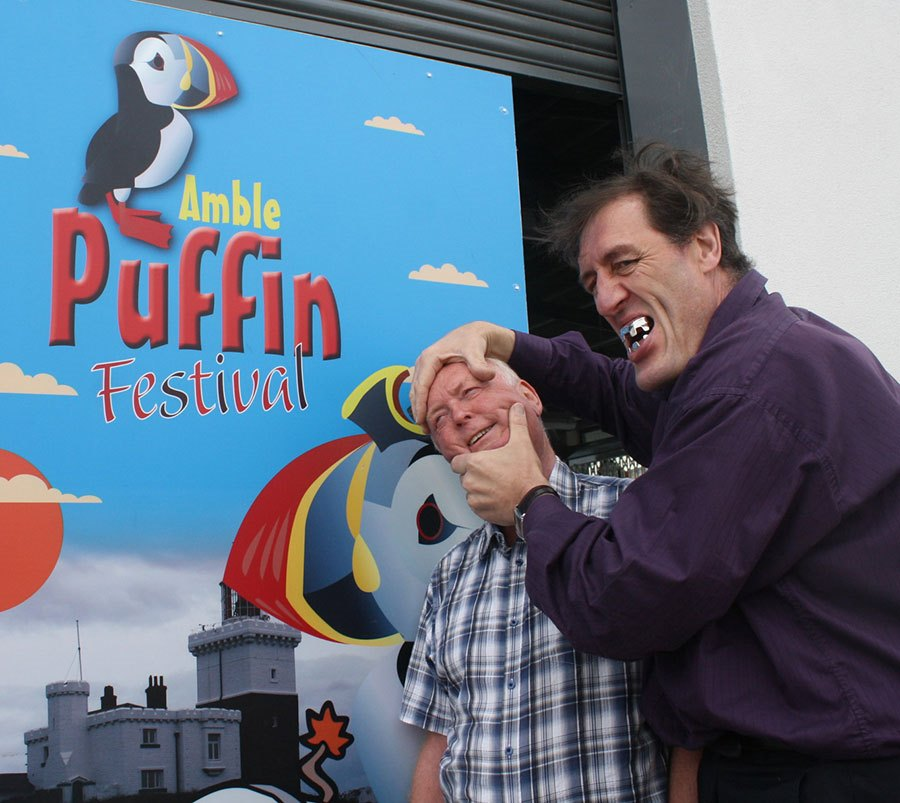 Gary Tiplady aka 'Jaws' at Amble Puffin Festival