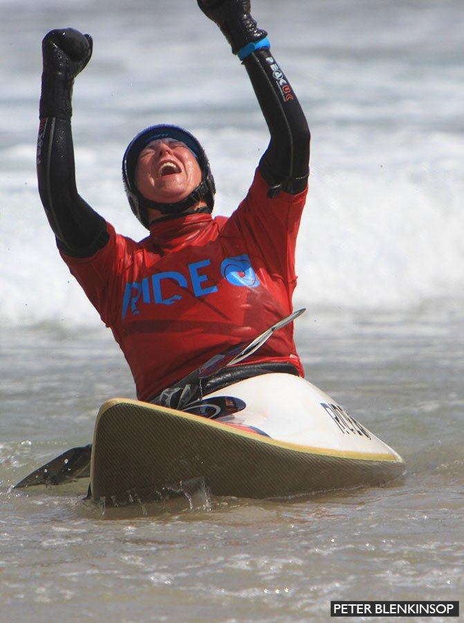 Tamsin wins world surf kayaking championship
