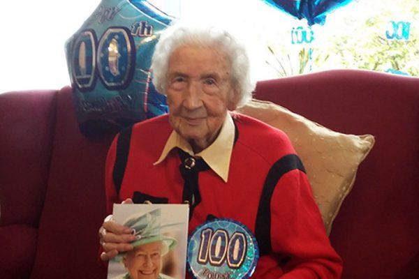 Miss Murdy celebrates her 100th birthday