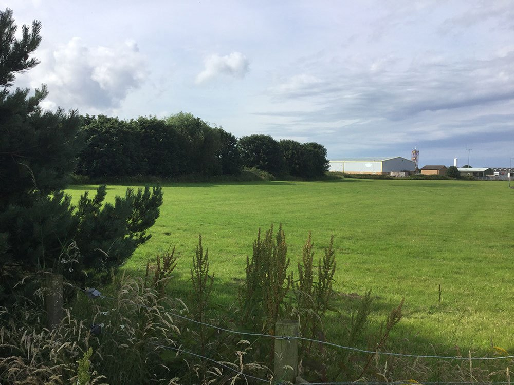 Proposed site of new hotel on outskirts of Amble