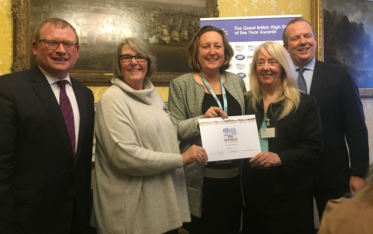 Amble-awarded-GBHighSt-certificate