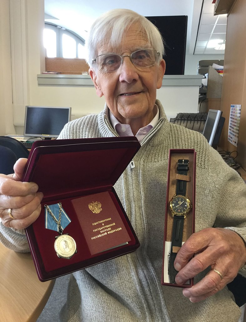 Richard-Aston-with-medal-and-watch