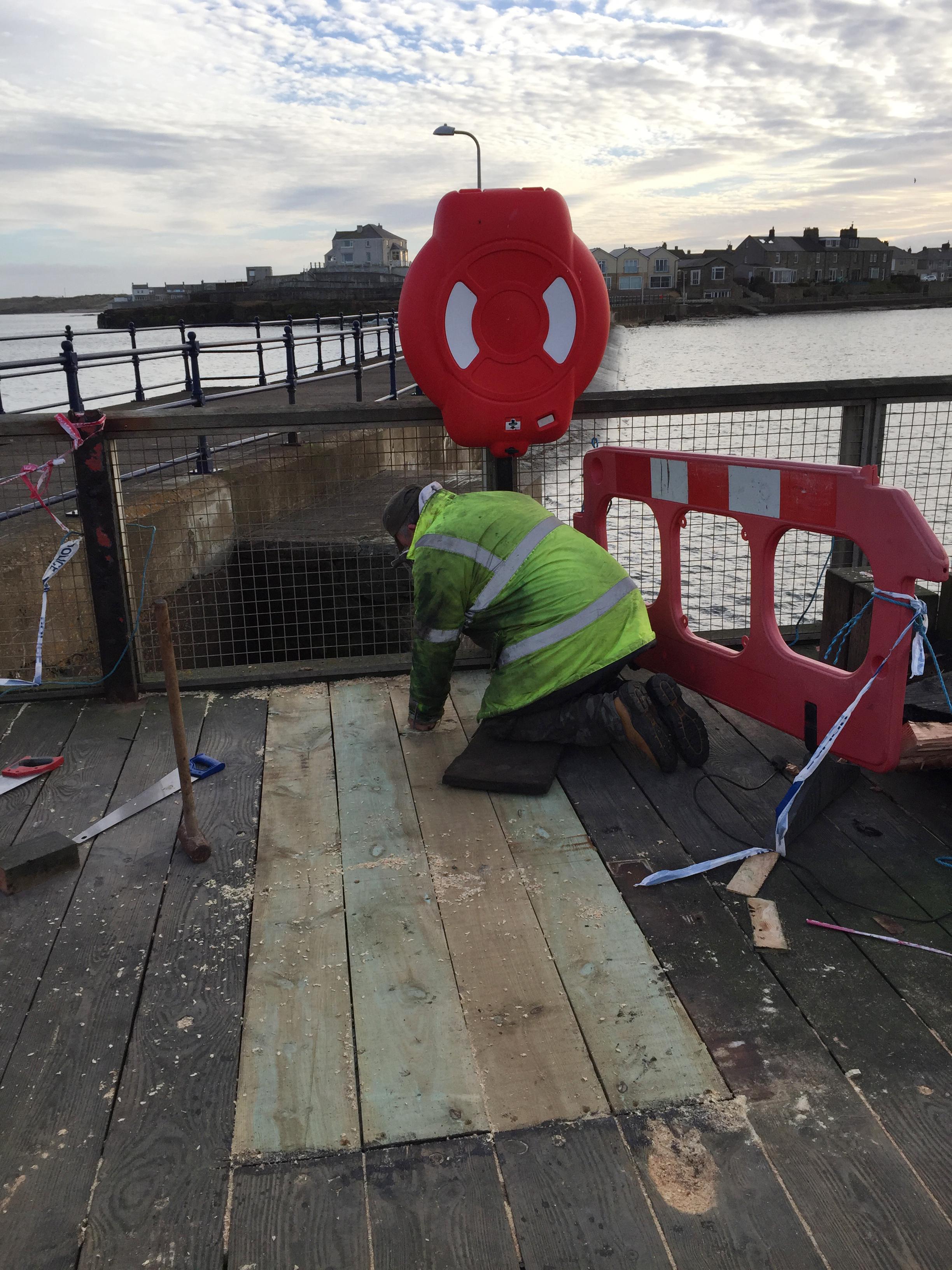 fixing the pier 2017