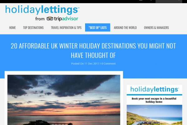 Amble in top ten affordable UK winter destinations