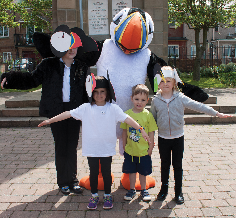 some of the cast of Puffin Peter AW