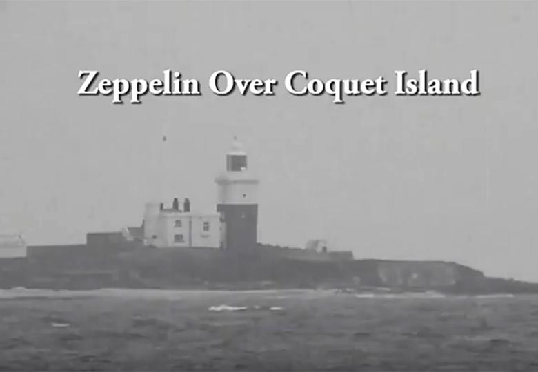 Zeppelin over Coquet Island