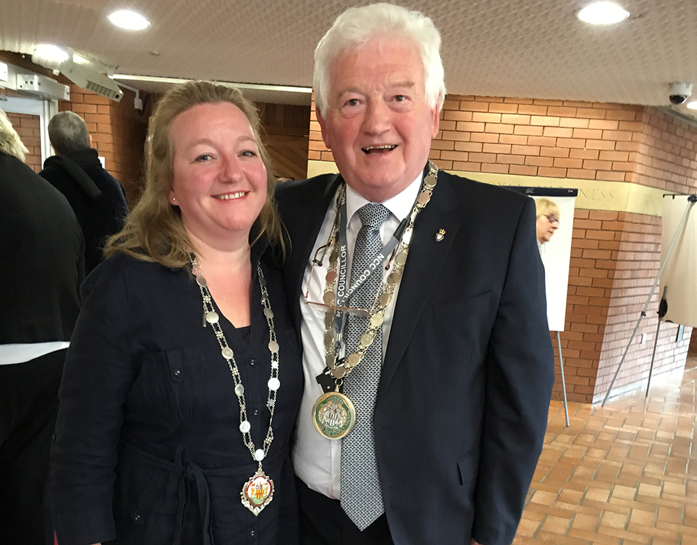 Civic Head Jeff Watson with Louise Rowlandson