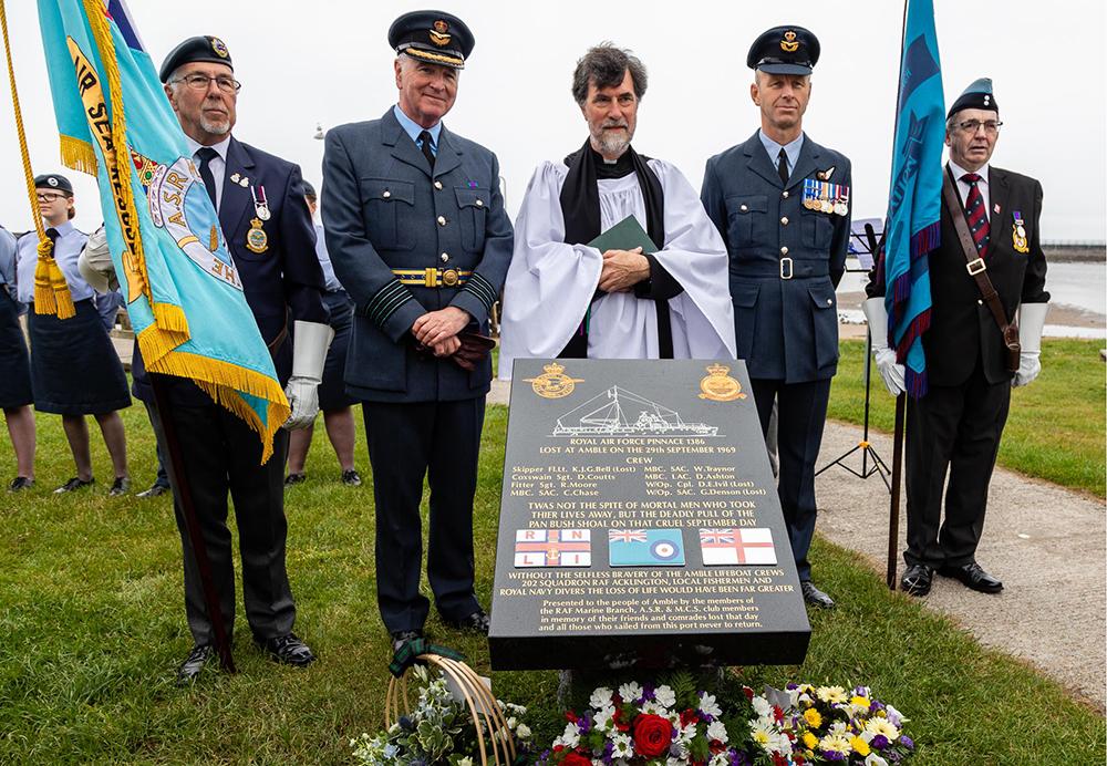 RAF and dignitaries at memorial AM