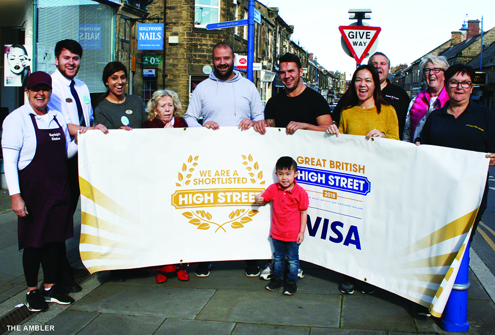Great British High St group with banner