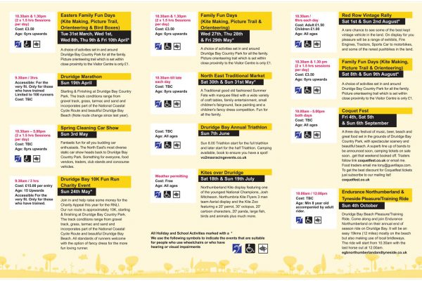 Events at Druridge Bay