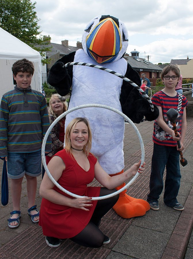 Tommy the Puffin and circus workshop