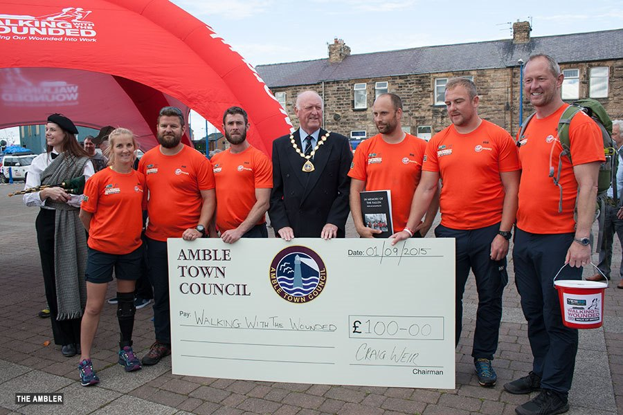 walking with the wounded team visit Amble