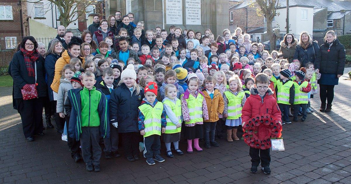 Edwin-St-school-at-Armistice-Day