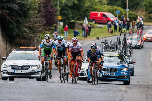 Tour of Britain comes through Amble