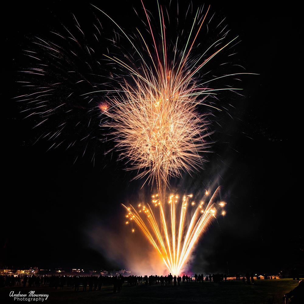 gold fireworks