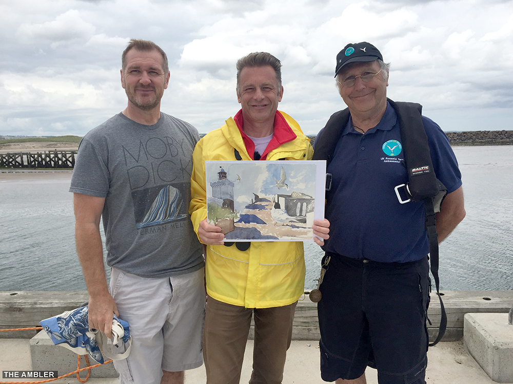 Chris Packham visits Amble