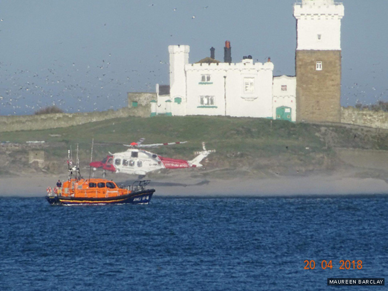 emergency on Coquet Island MB