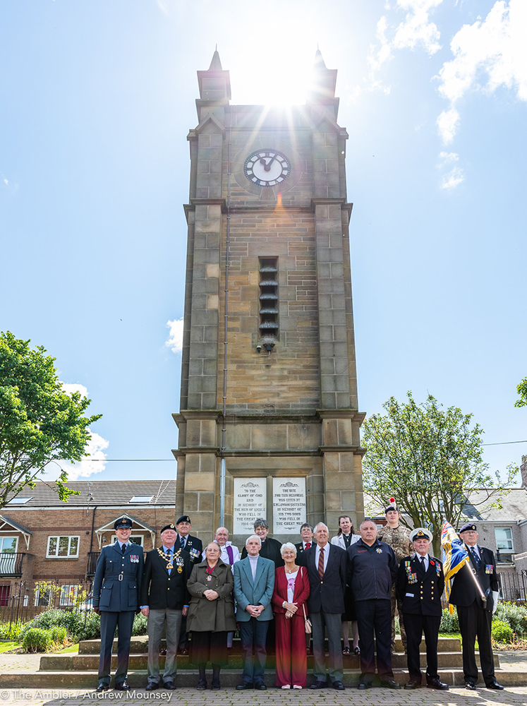 group at Amble clock memorial AM