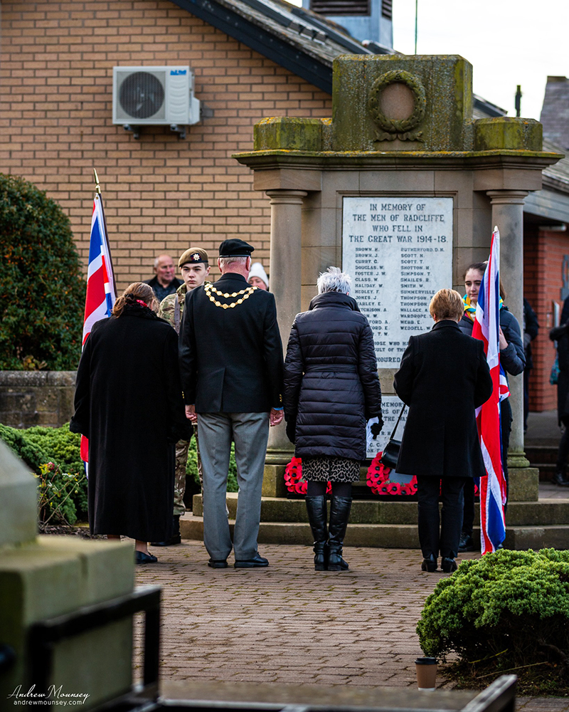Paying respects at Radcliffe memorial AM