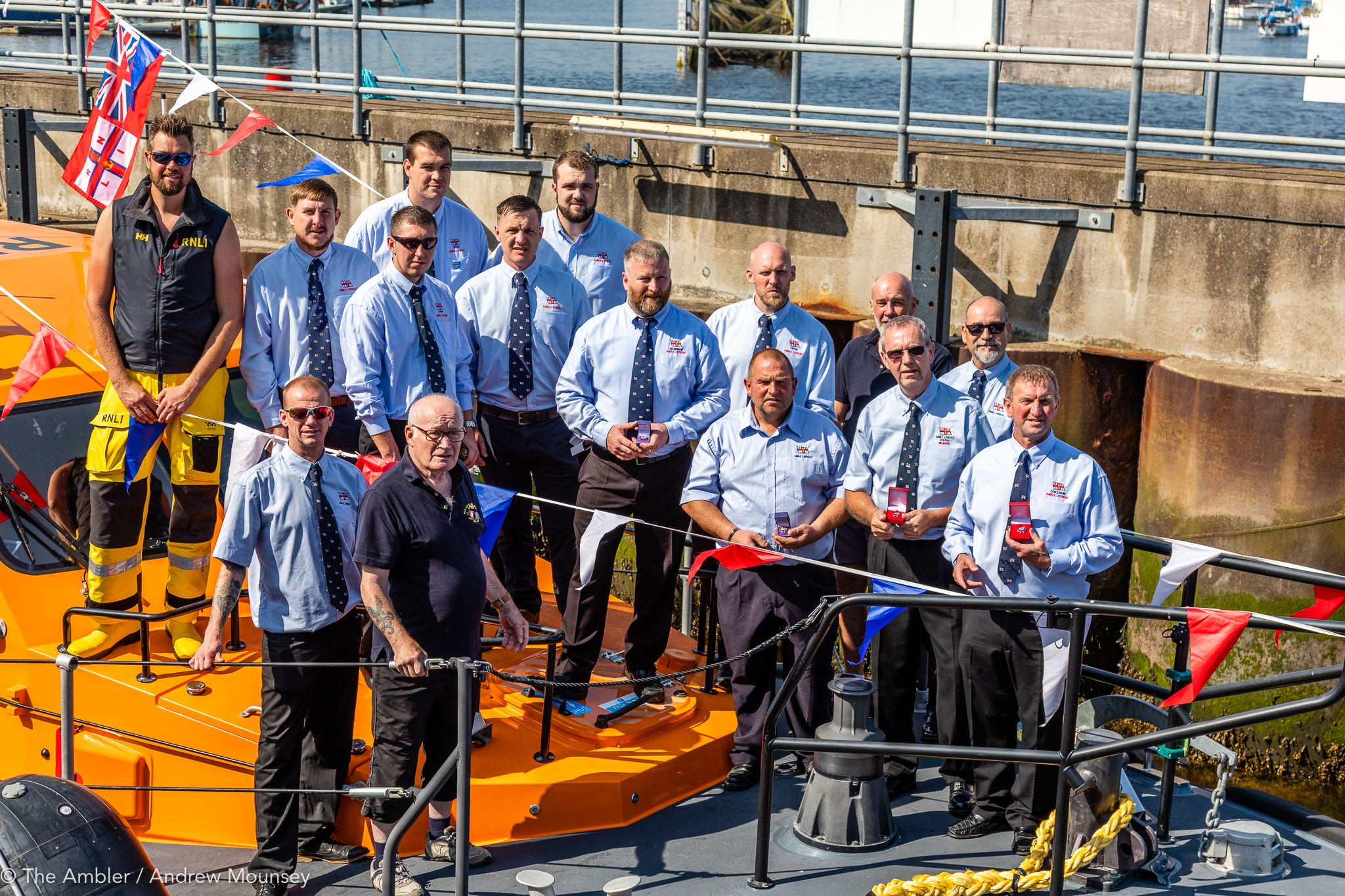 Amble Lifeboat crew and medals