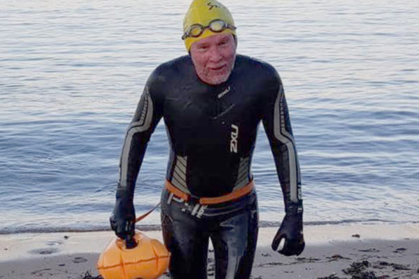 Amble swimmer calls for end to sewage dumping in the sea