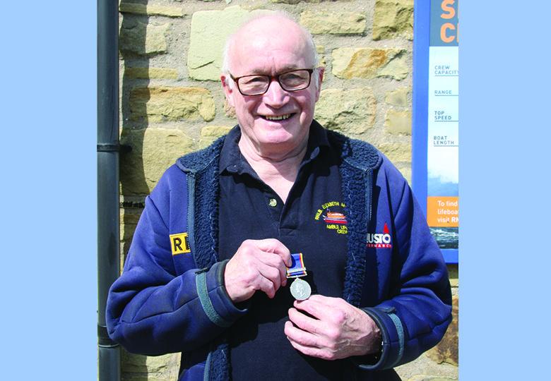 Rodney's 50 year service medal