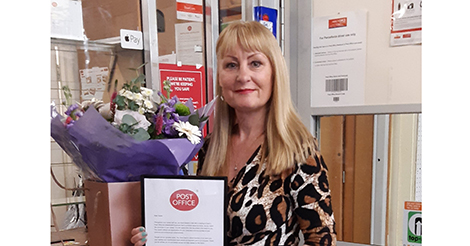 Amble postmistress retires after 28 years' loyal service
